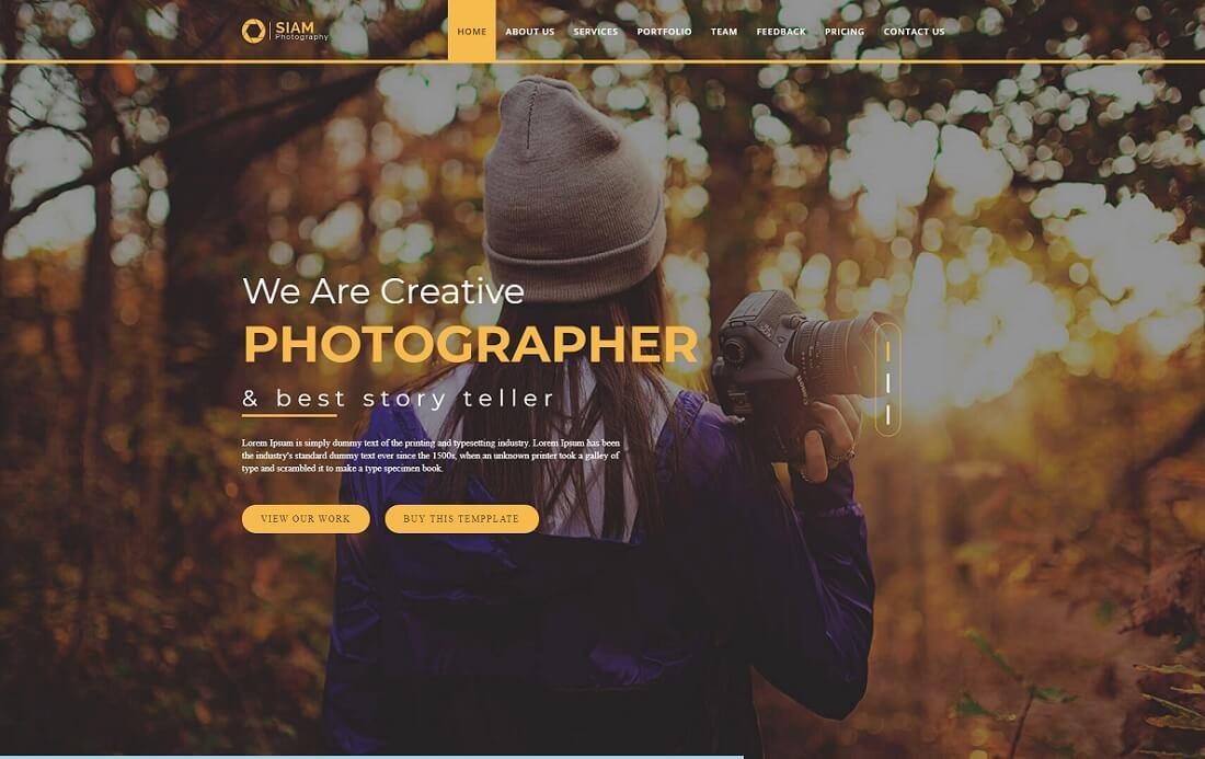 photography portfolio artist website template