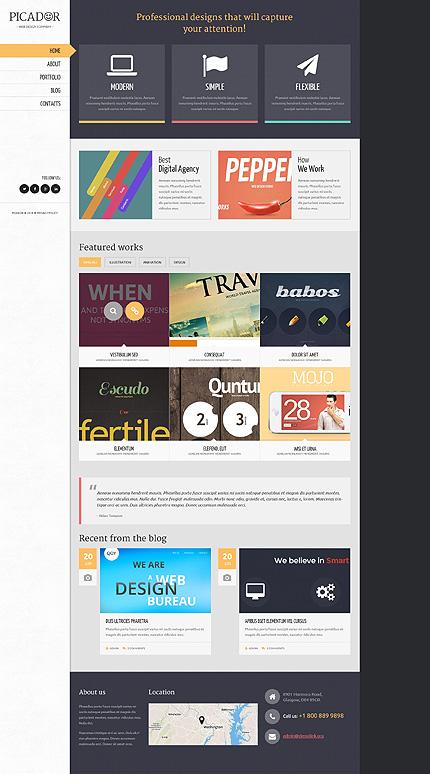Professional Web Designs WordPress Theme