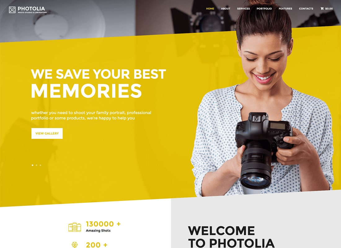 Photolia | Photo Company & Photo Supply Store WordPress Theme