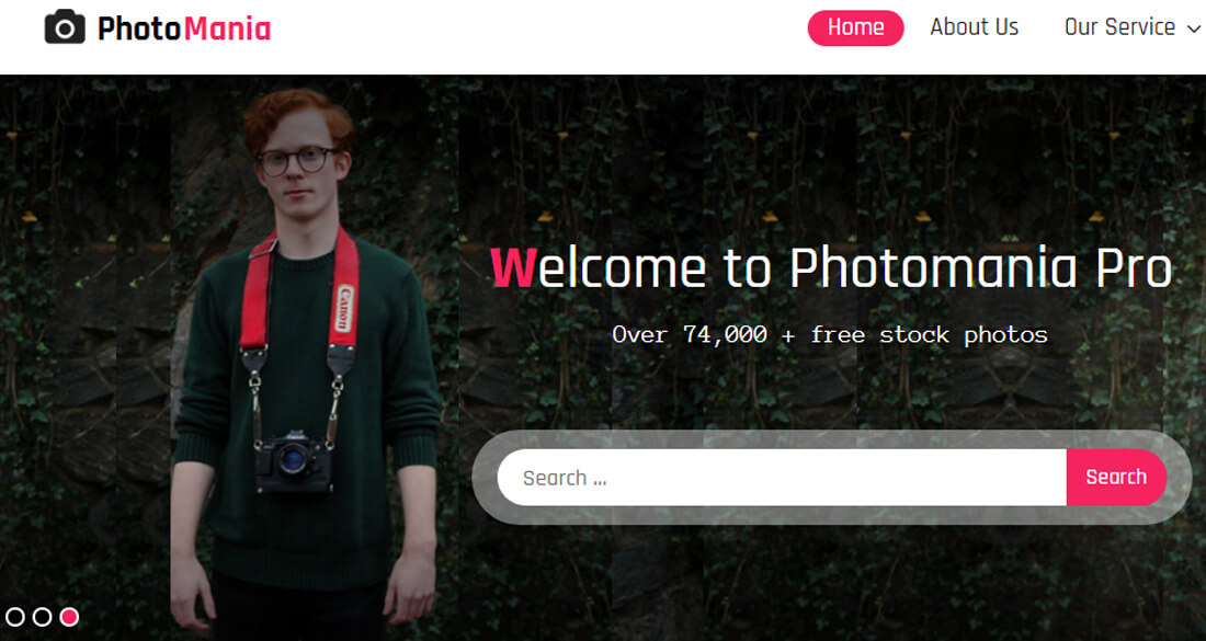 Best Stunning Free Photography Website Templates HTML WordPress - Free photography website templates