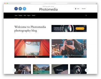 Photomedia Free Template