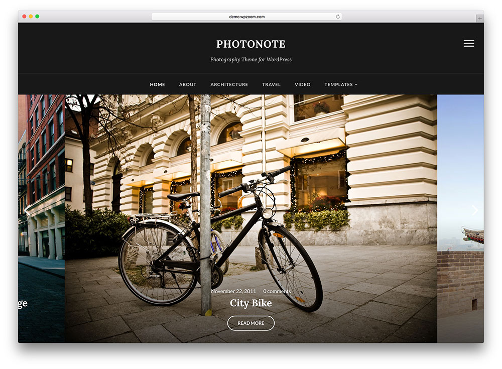 photonote - dark photography gallery