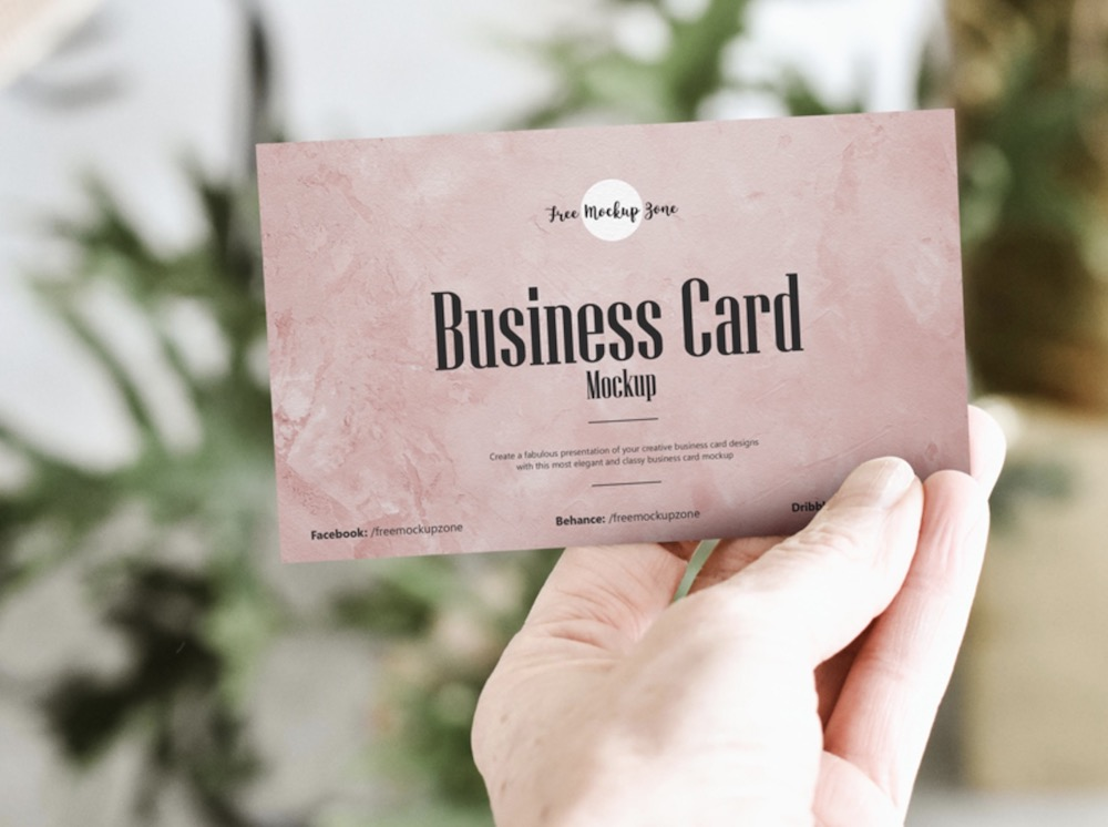 photorealistic business card psd mockup
