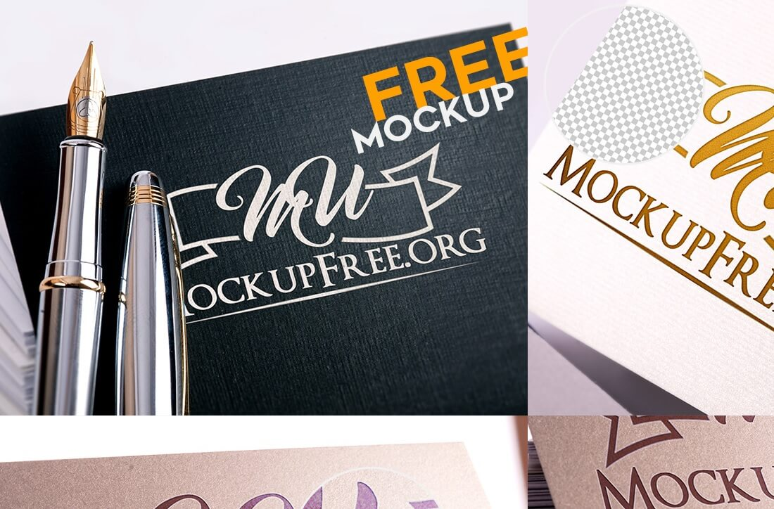 photorealistic free logo mock up pack