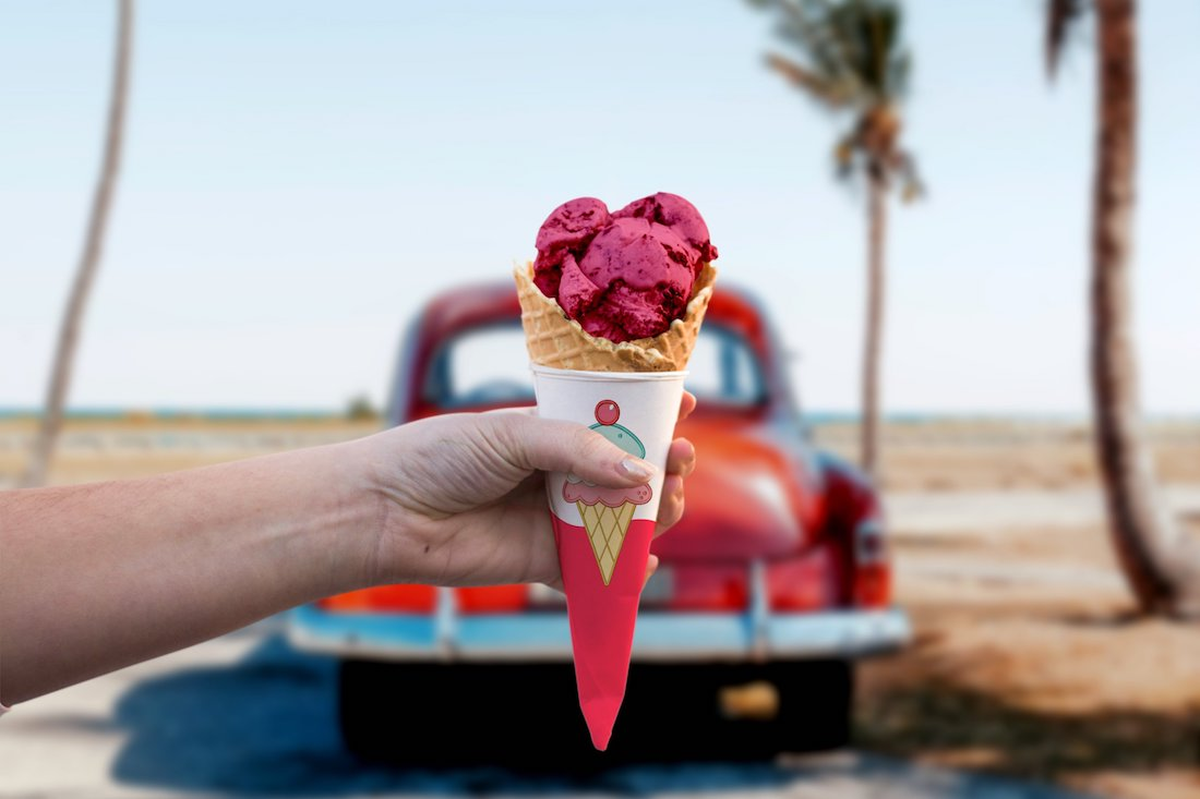 photorealistic ice cream mock up