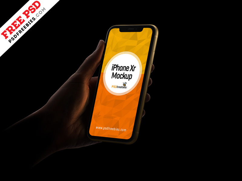 photorealistic iphone xr psd mockup free download
