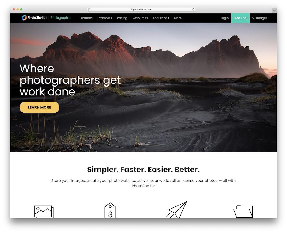 photoshelter build portfolio website