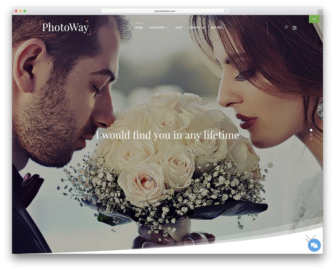 photoway free wordpress wedding photography theme