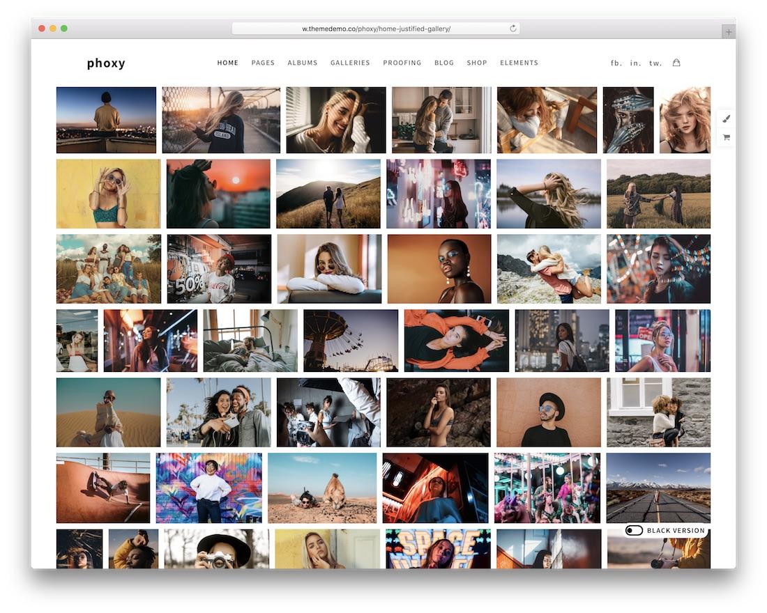 phoxy wordpress gallery theme