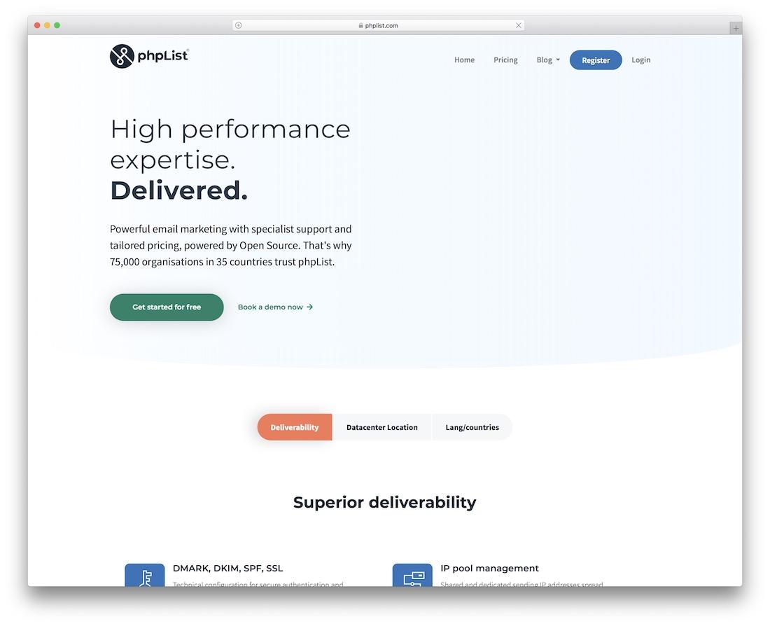 phplist email platform for developers