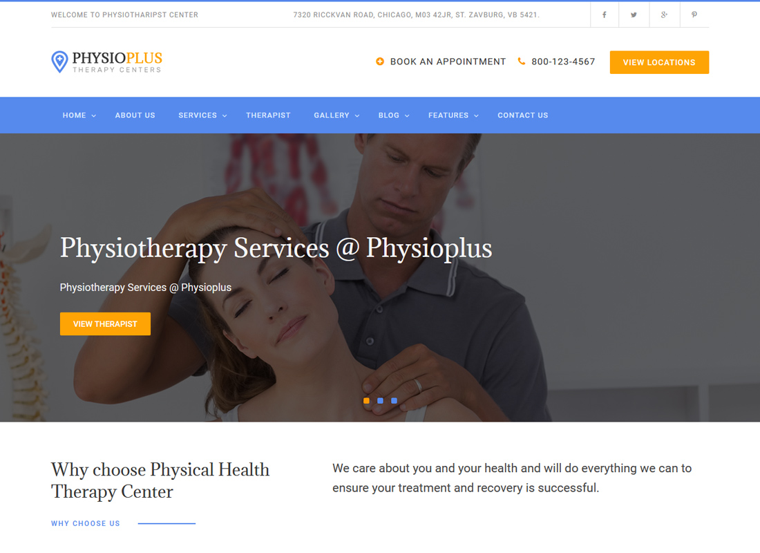 Physio Plus | Physiotherapy & Physical Therapy WordPress Theme
