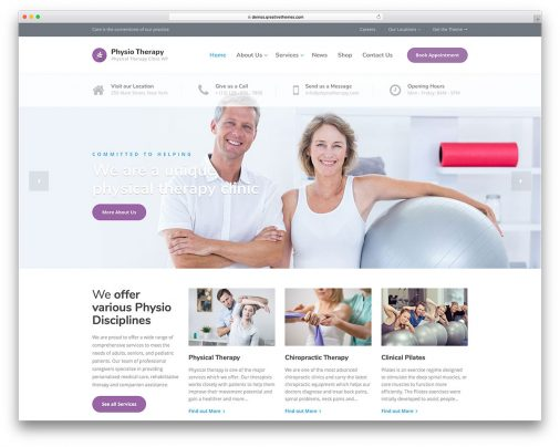 Physiotherapy Chiropractor Wordpress Themes