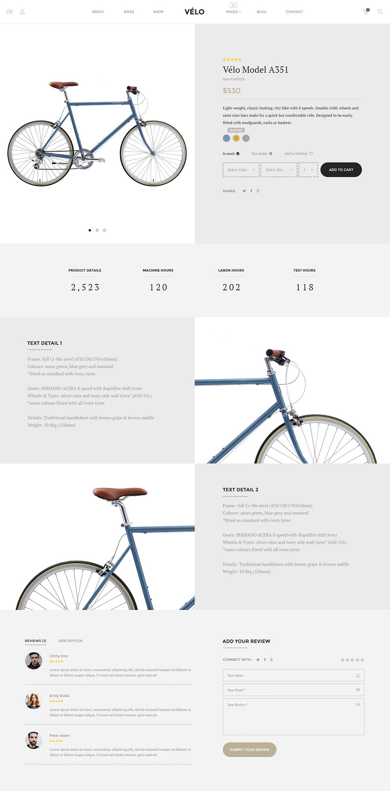 velo wordpress