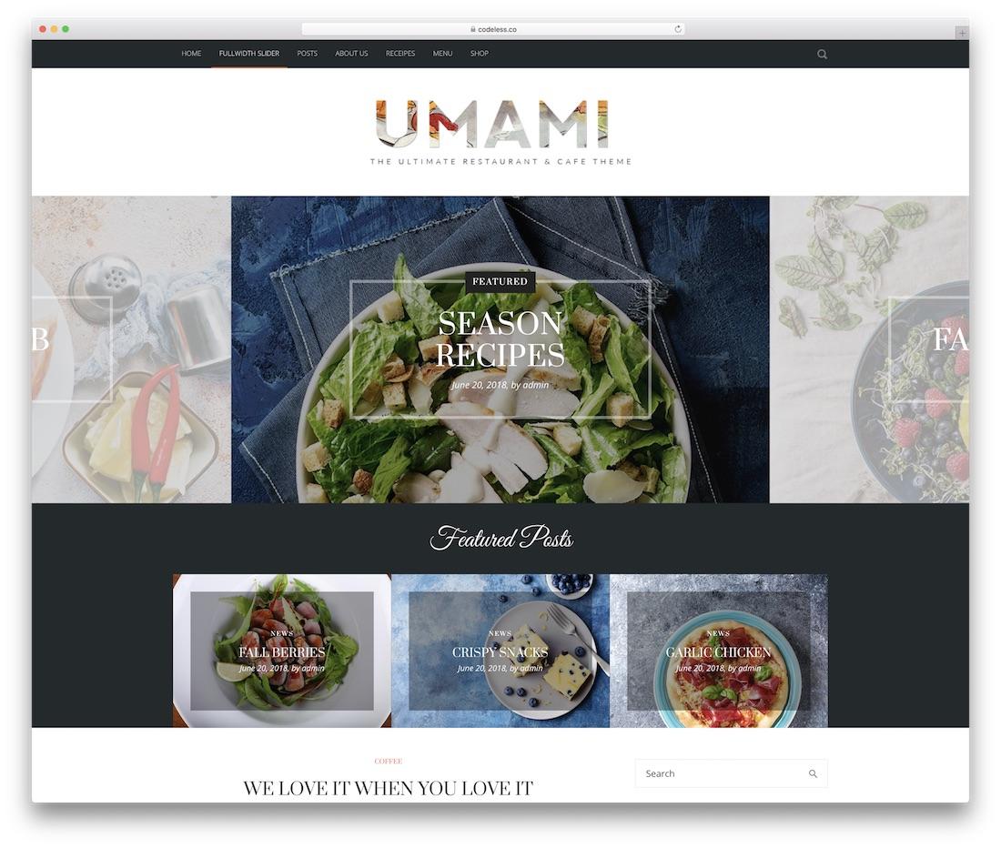 picante wordpress food blog theme
