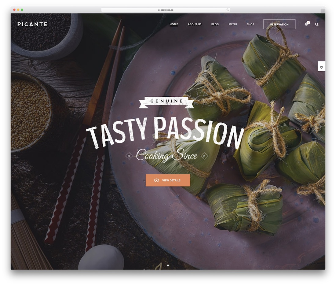 picante wordpress restaurant theme