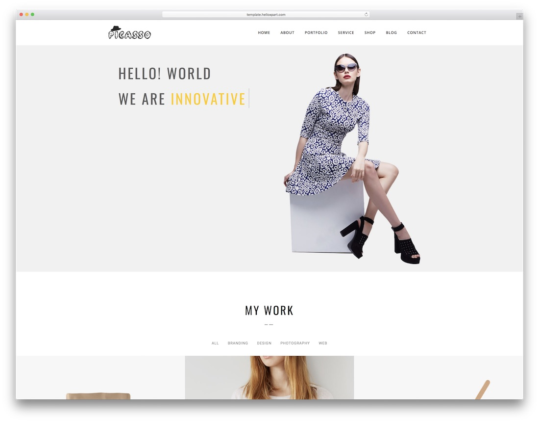 picasso designer website template