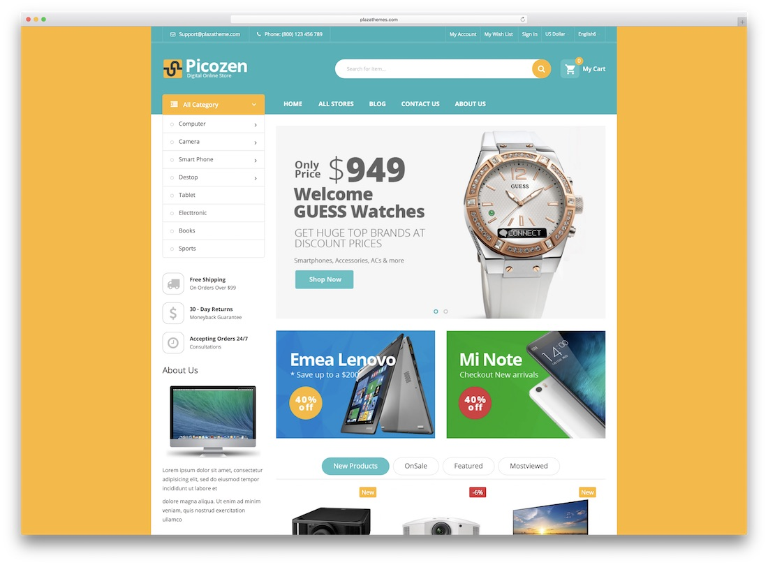 picozen magento technology theme
