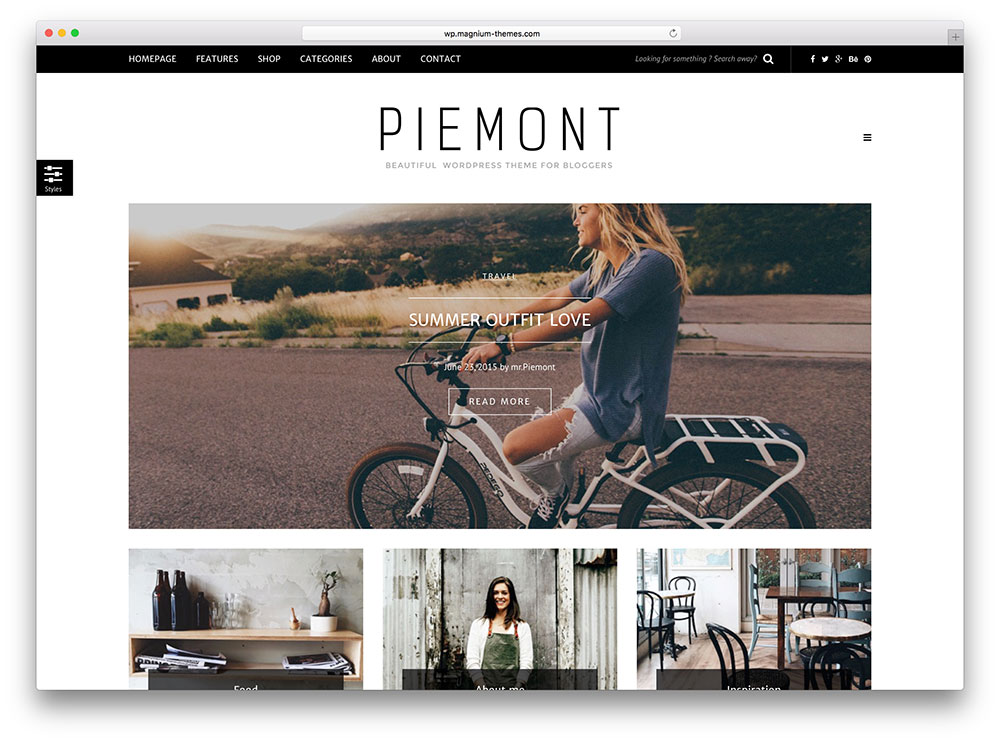piemont - minimal wordpress blog theme
