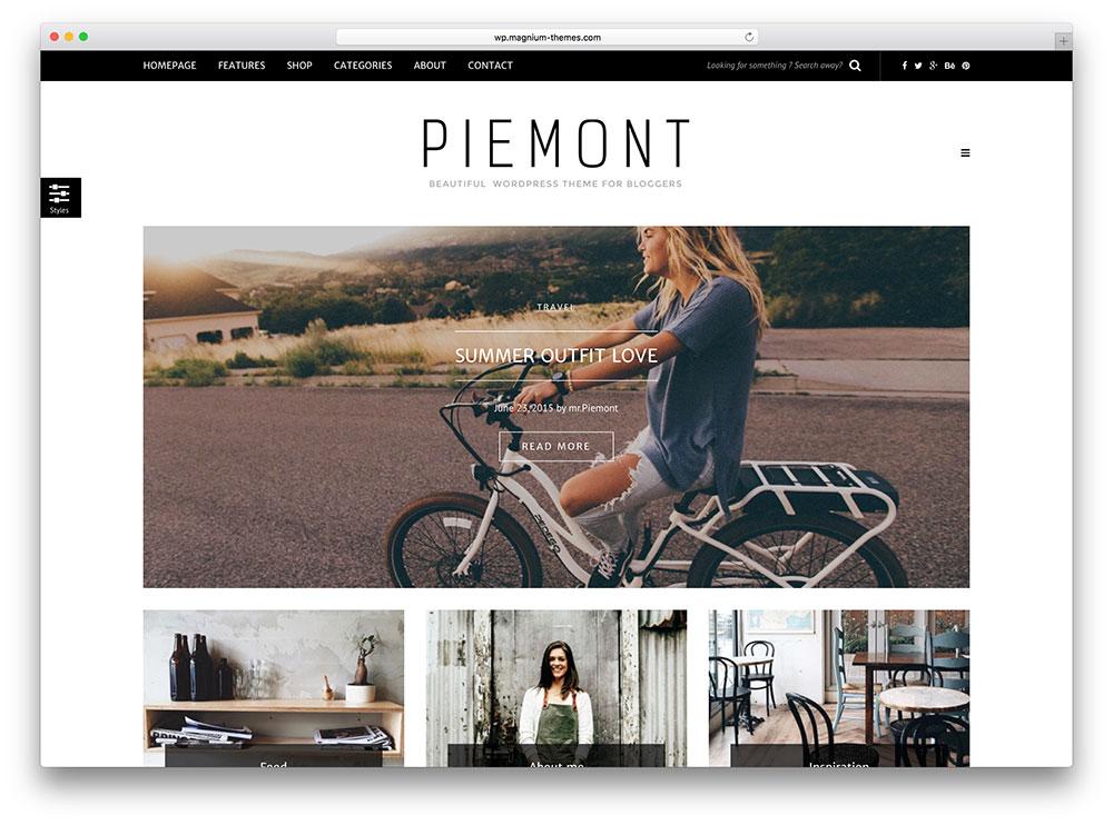 piemont - minimal wordpress blog theme