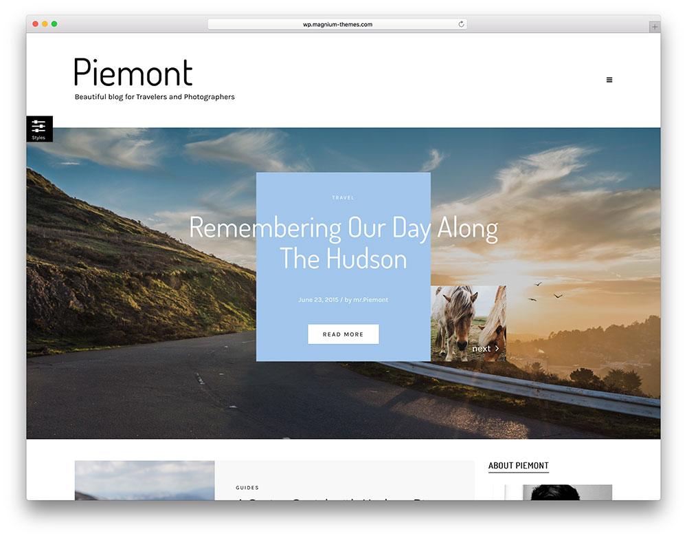 piemont - travel blog theme