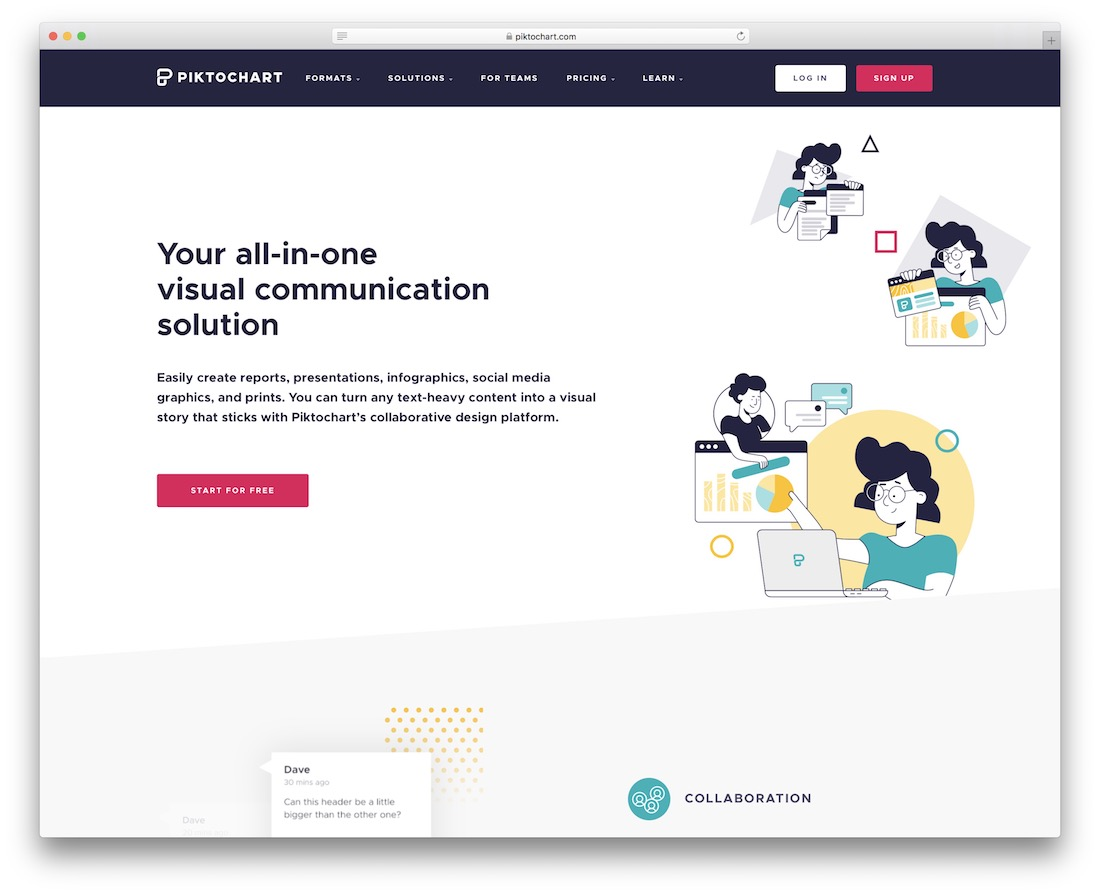 piktochart tool for creating visual content
