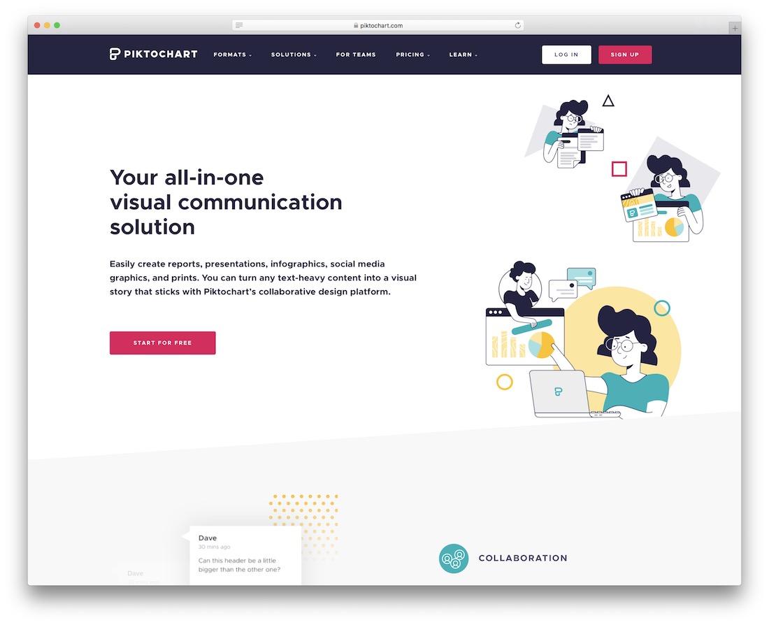 piktochart tool for presentations
