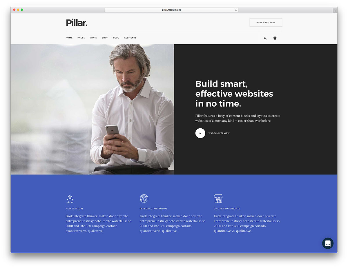 20 top business website templates html5 wordpress 2018 colorlib pillar is a technologically accomplished and navigational intuitive website template a powerful website template that is especially powerful when deployed accmission Images