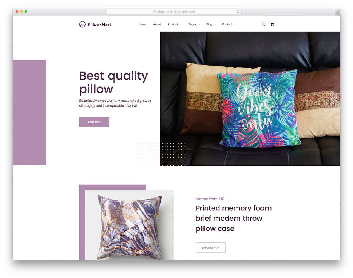 Pillowmart Free Template