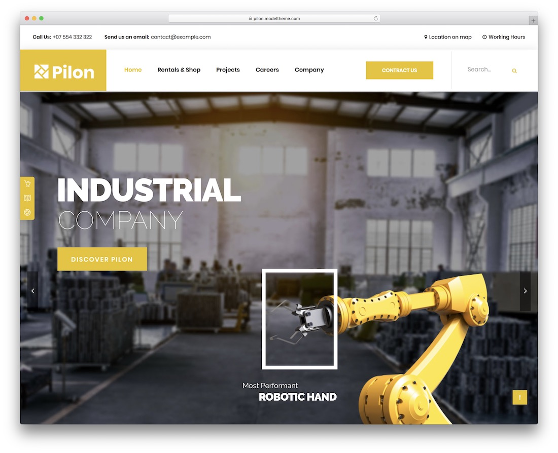 pilon welding website template