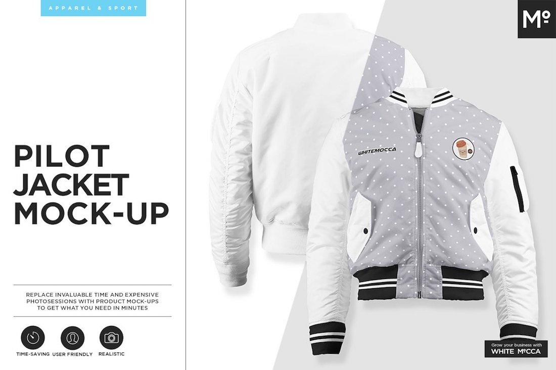 pilot jacket mock-up