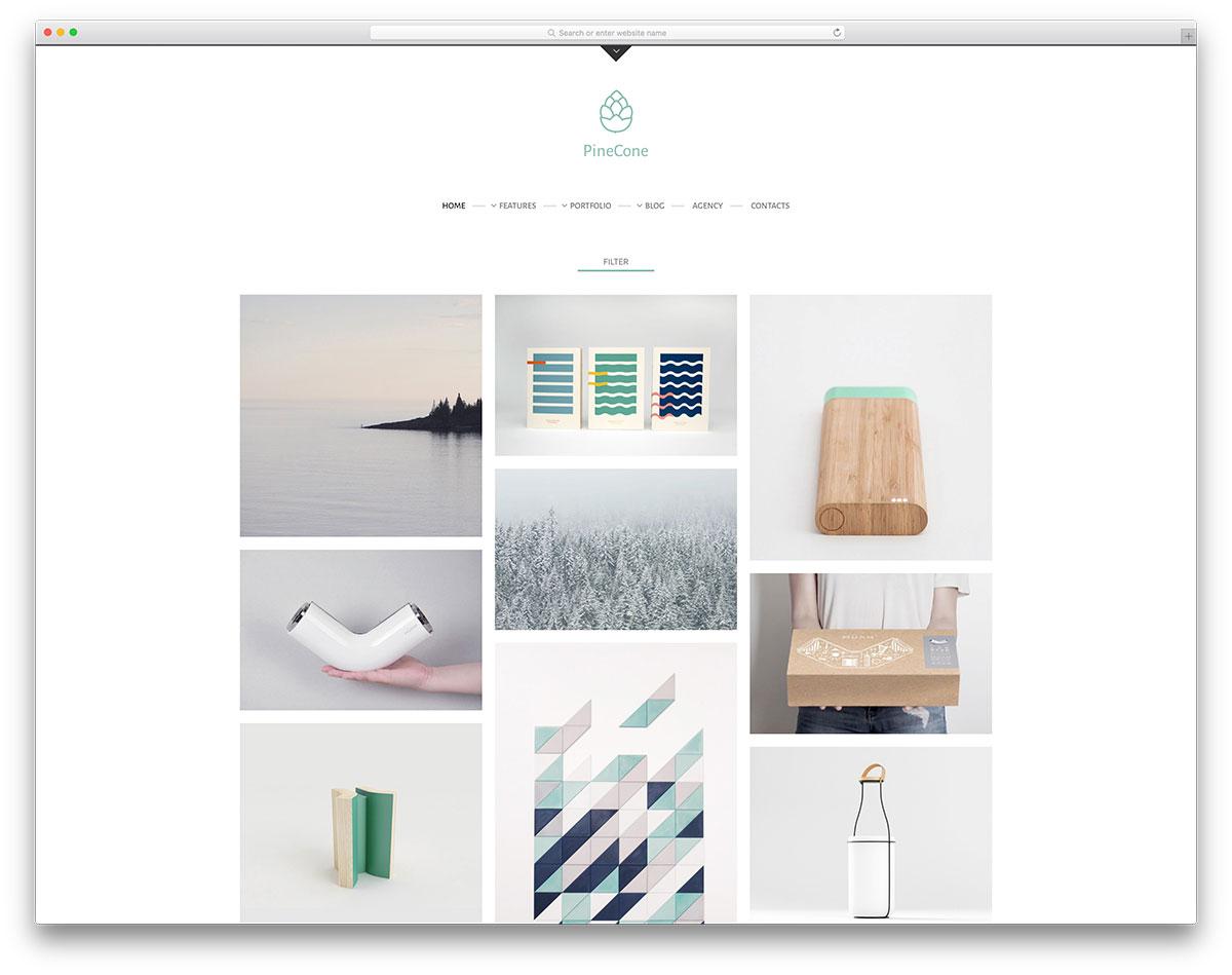 pinecone-minimal-portfolio-website-template
