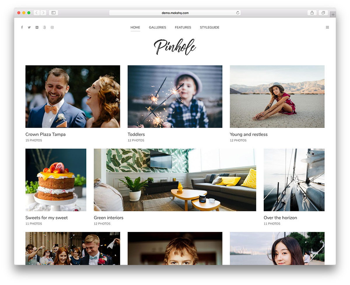 pinhole is a wordpress theme built for photographers freelancers and photo lovers it is a creation for independent people and their businesses