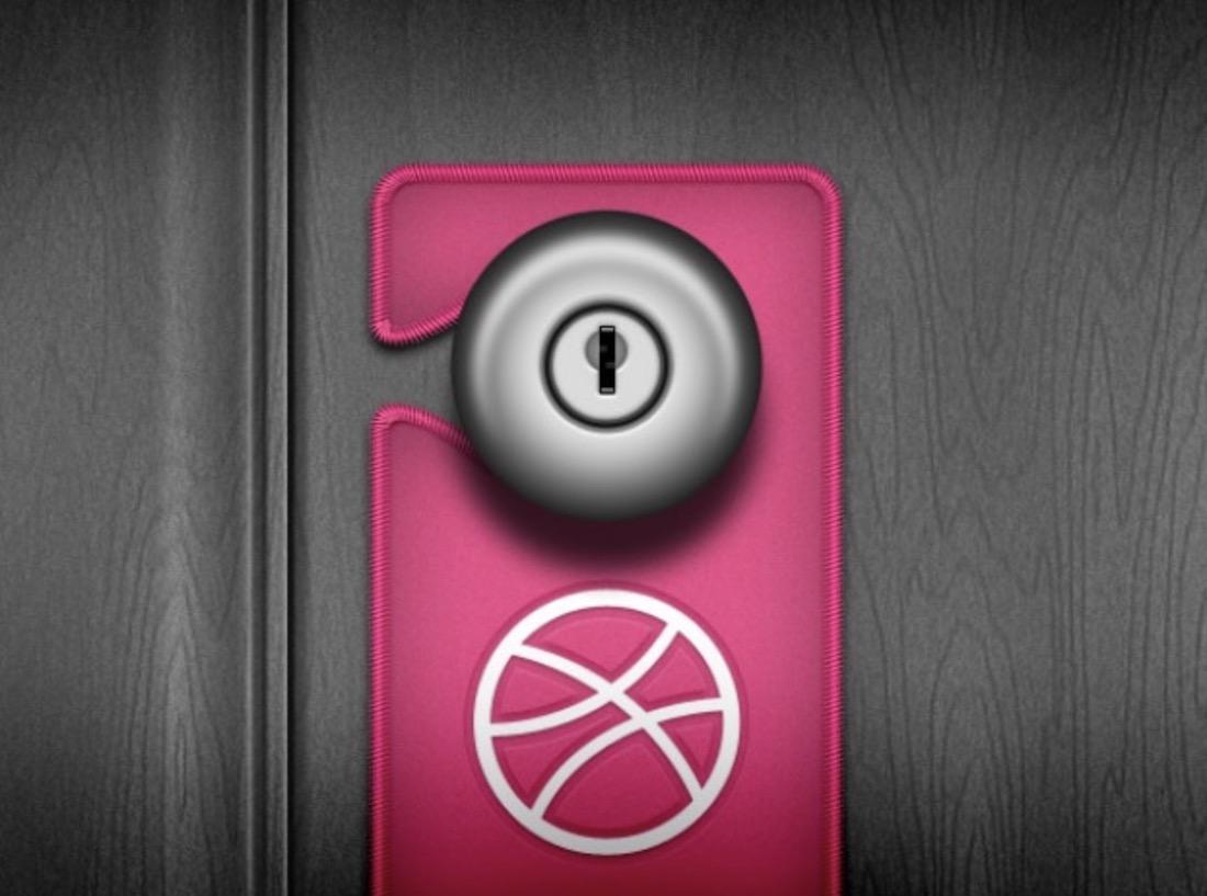pink door handle hanger mockup