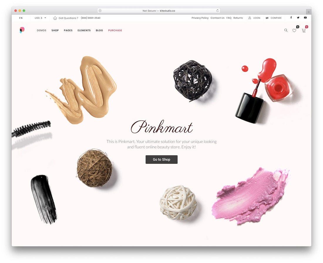 pinkmart ecommerce wordpress theme