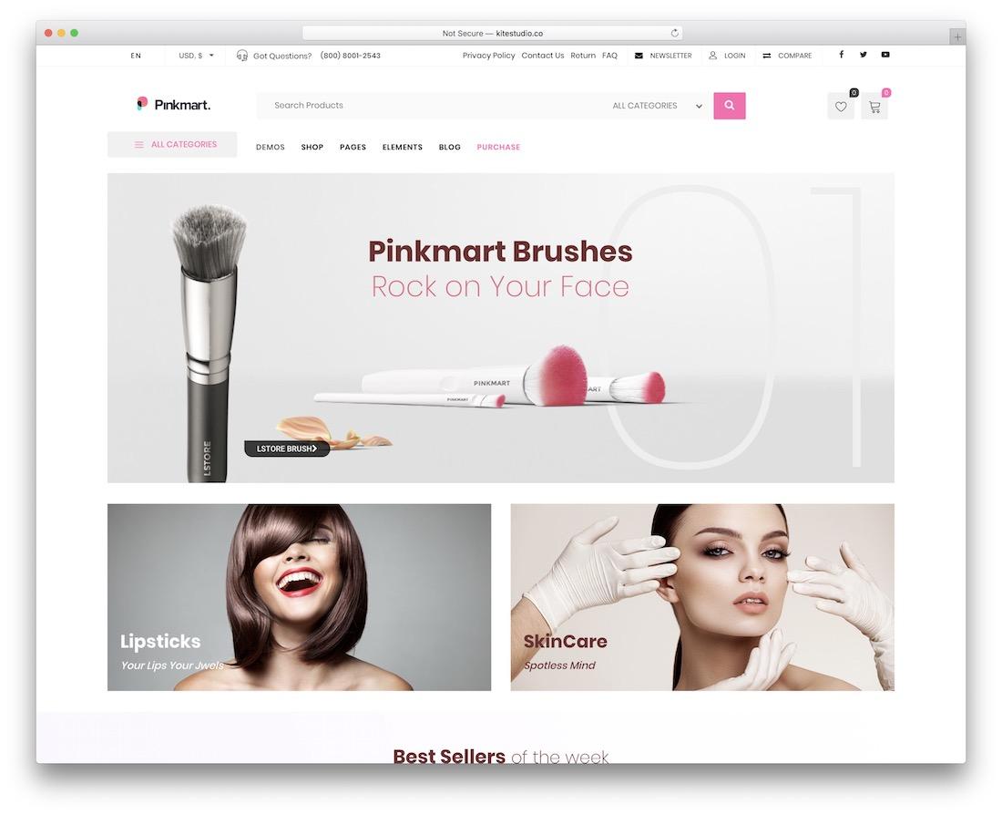 pinkmart wordpress shop theme