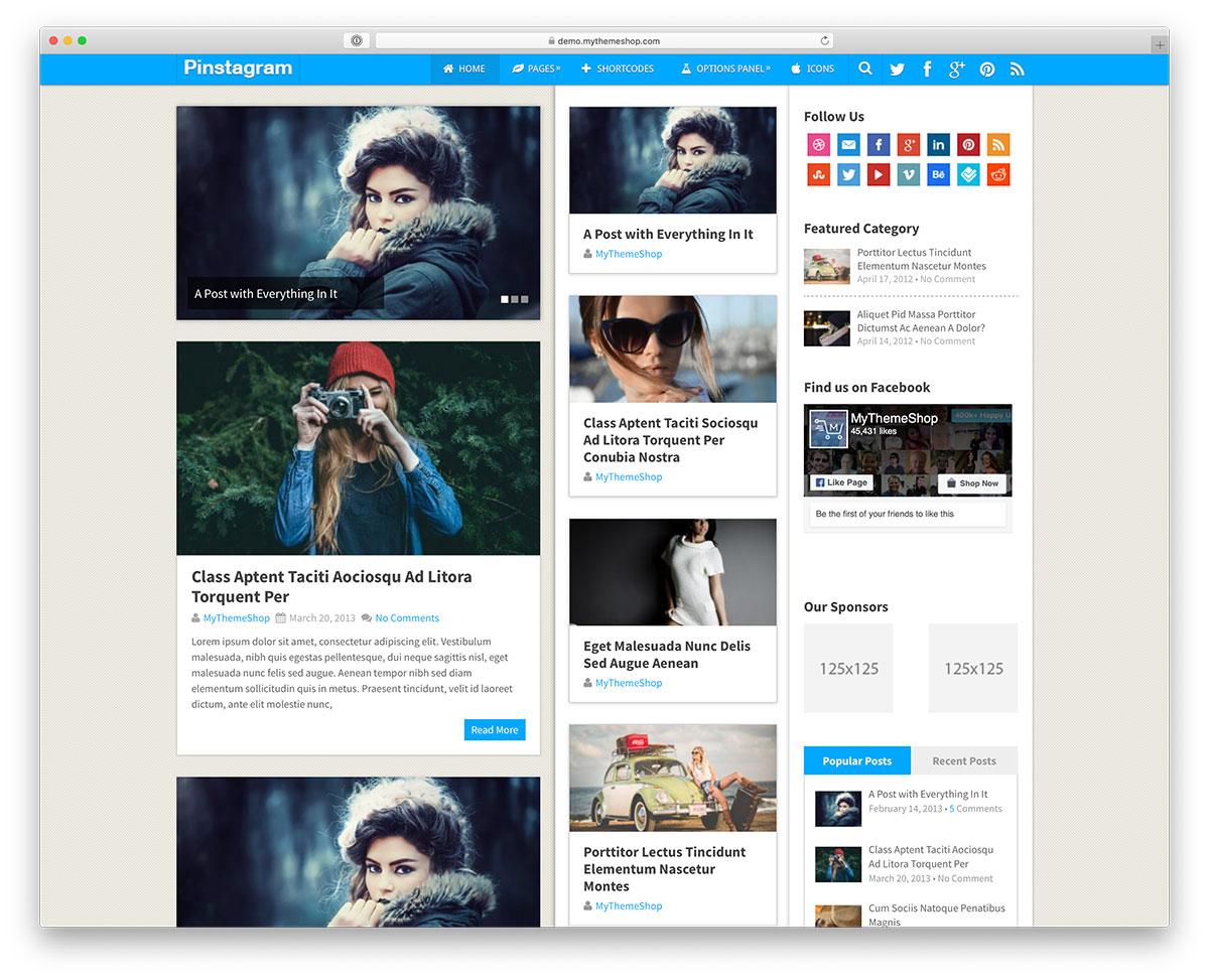 pinterest WordPress theme
