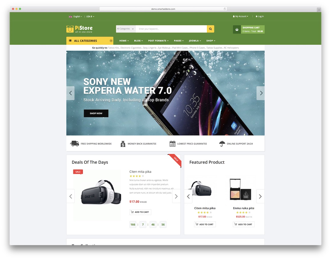 pistore virtuemart template