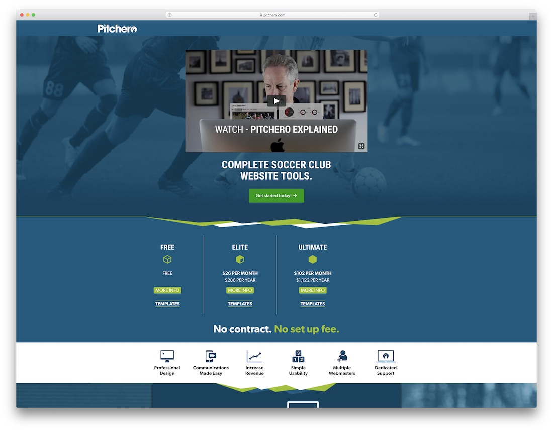 pitchero sports website builder