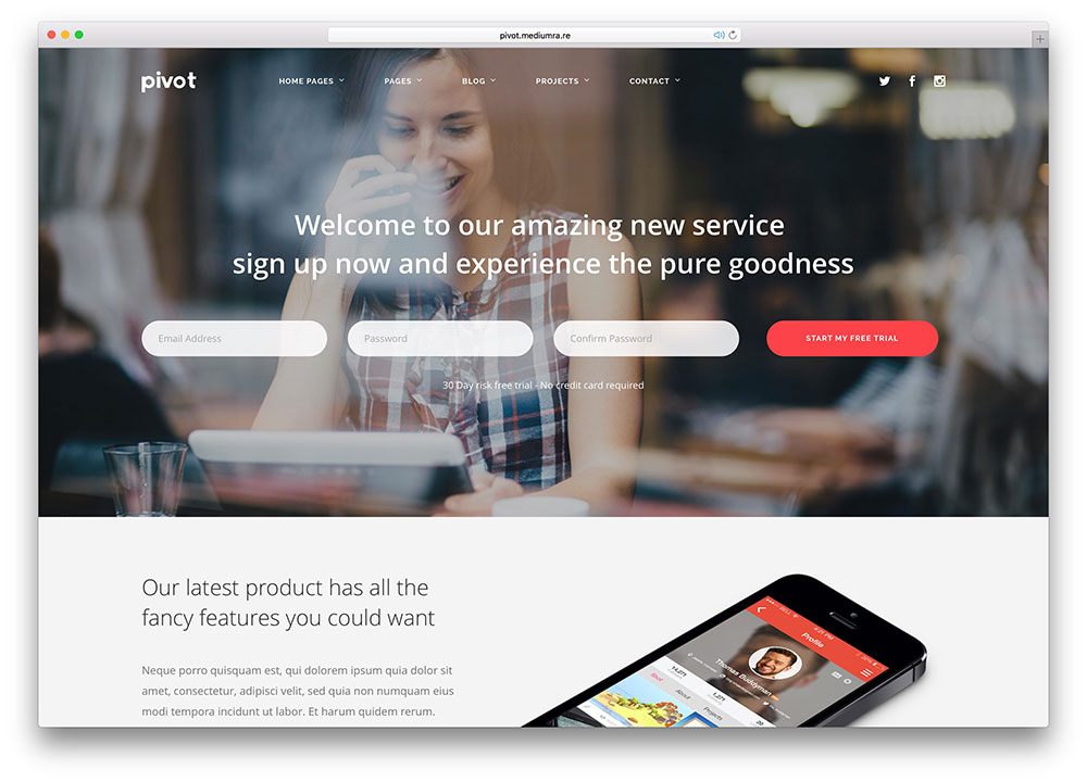 28 Awesome HTML5 Landing Page Templates 2018 - Colorlib
