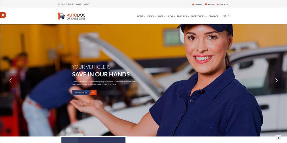 AutoDoc - Car Repair Mechanic Shop WordPress Theme