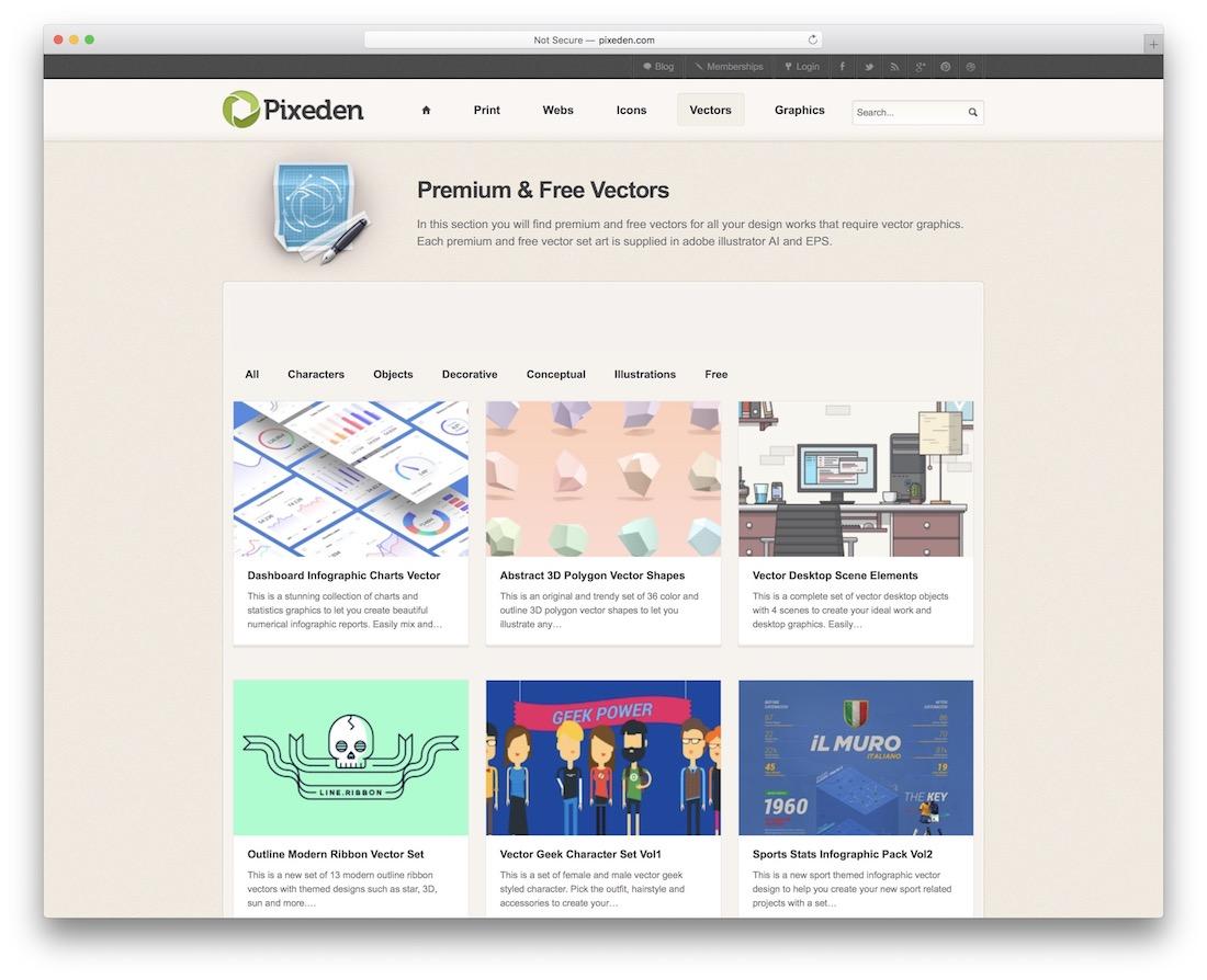 pixeden vector images website