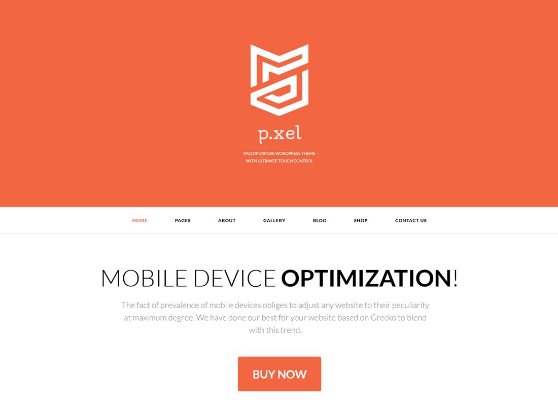 Pixel | A Modern Multi-Purpose WordPress Theme