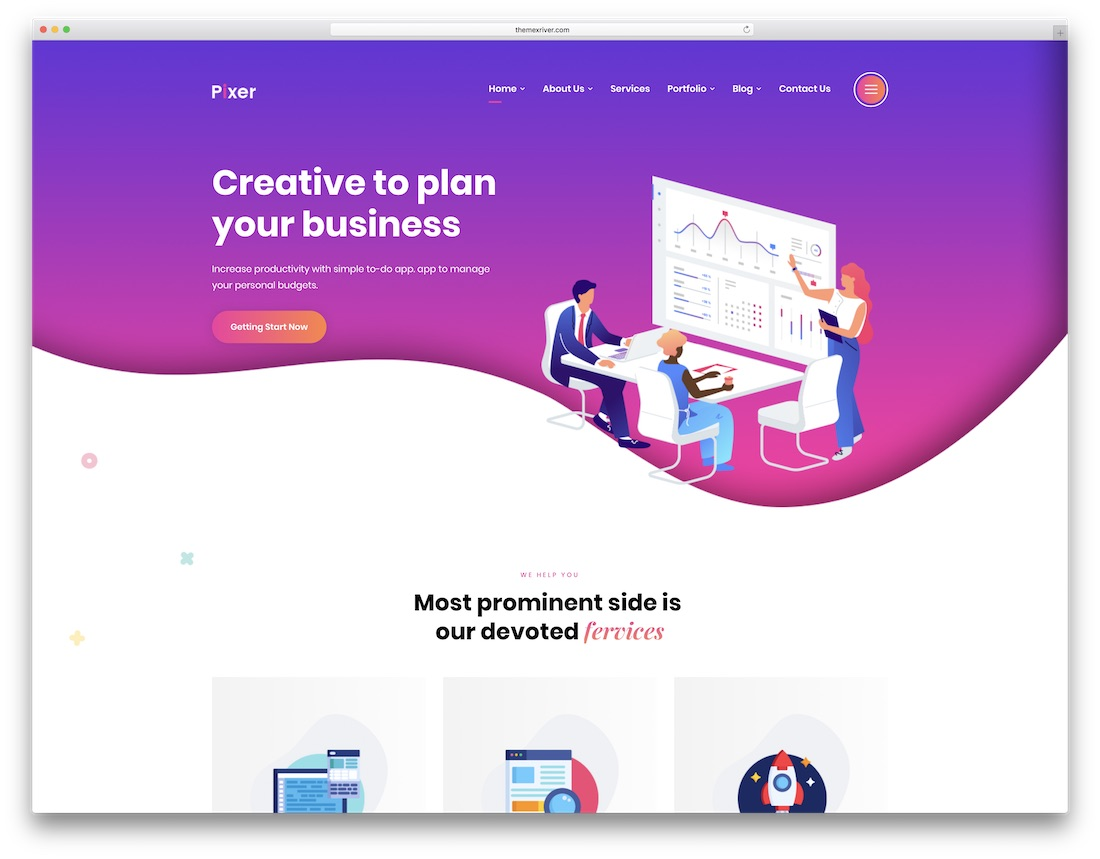 pixer technology website template