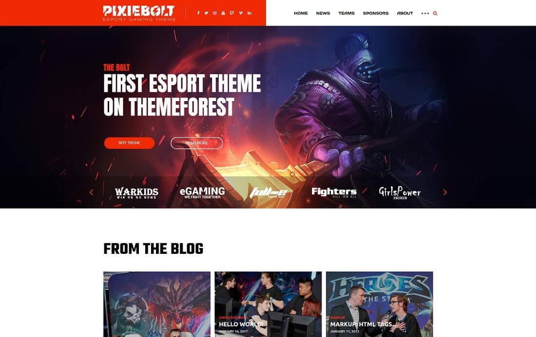 pixiebolt website template