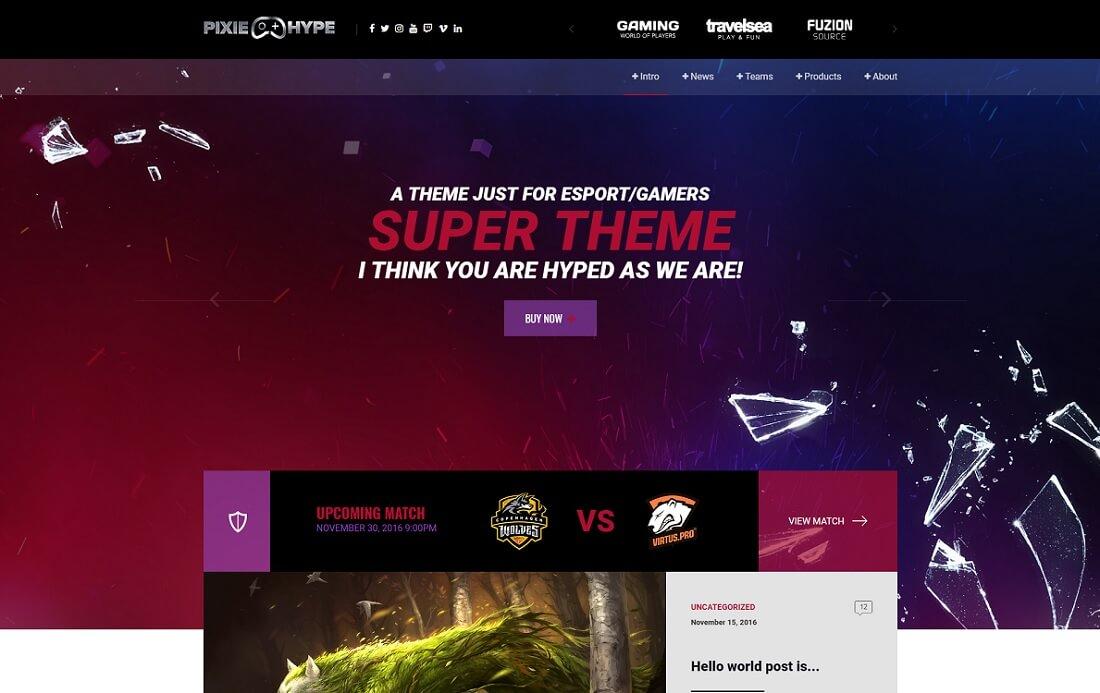 pixiehype website template