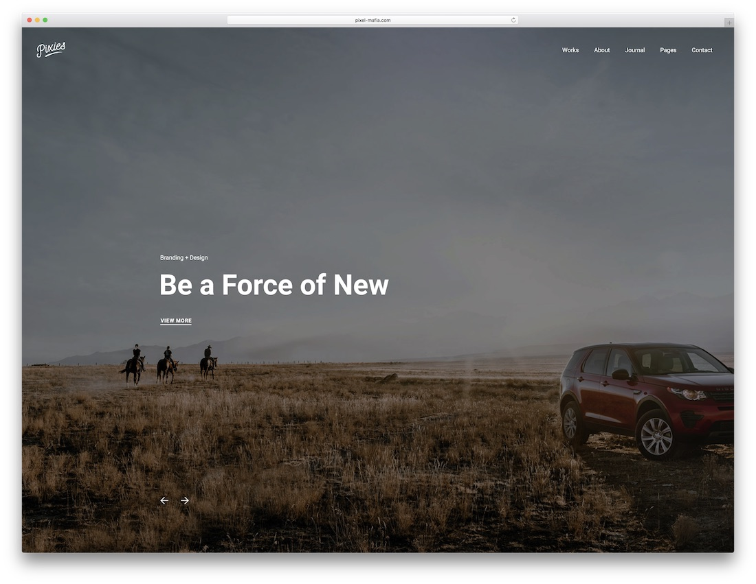 pixies fullscreen website template