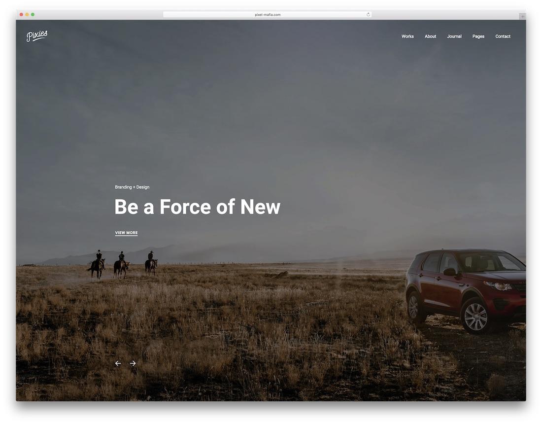 pixies graphic design website template