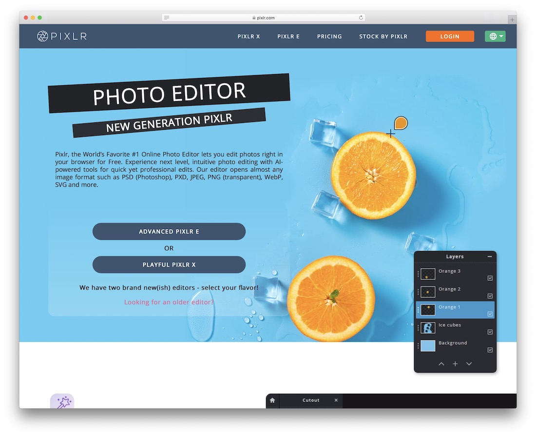 pixlr photo editing tool for graphic designers