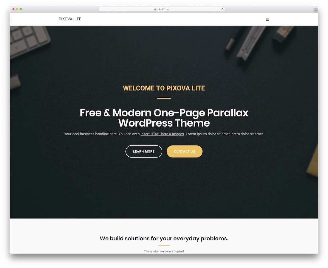 pixova lite free website template