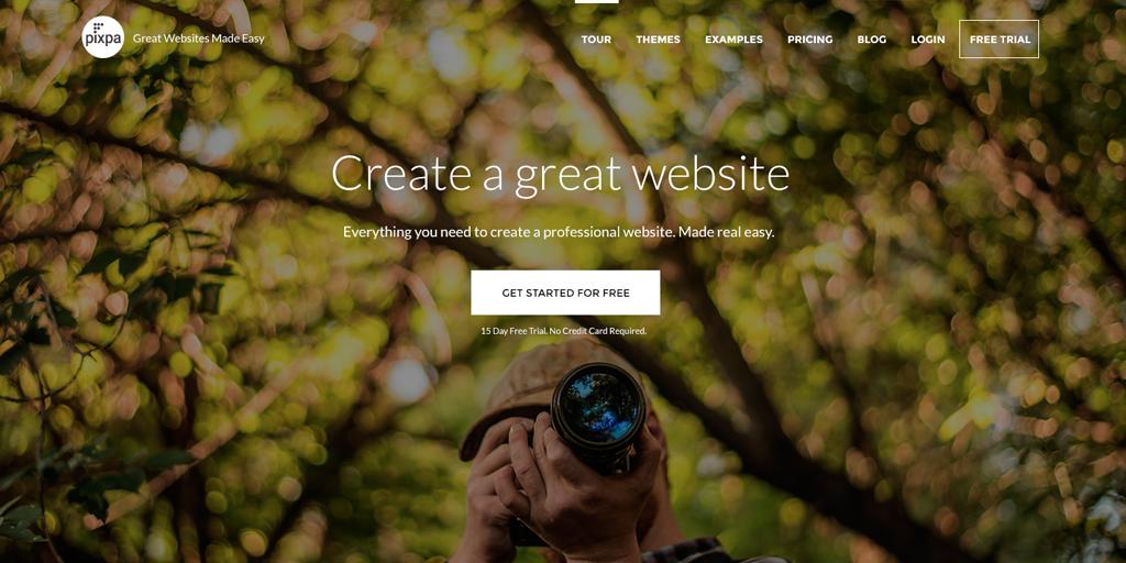 pixpa-home-page